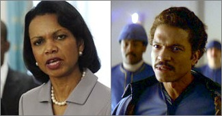 Condoleezza Rice vs. Lando Calrissian