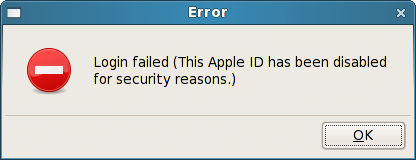 Sharpmusique iTunes account error