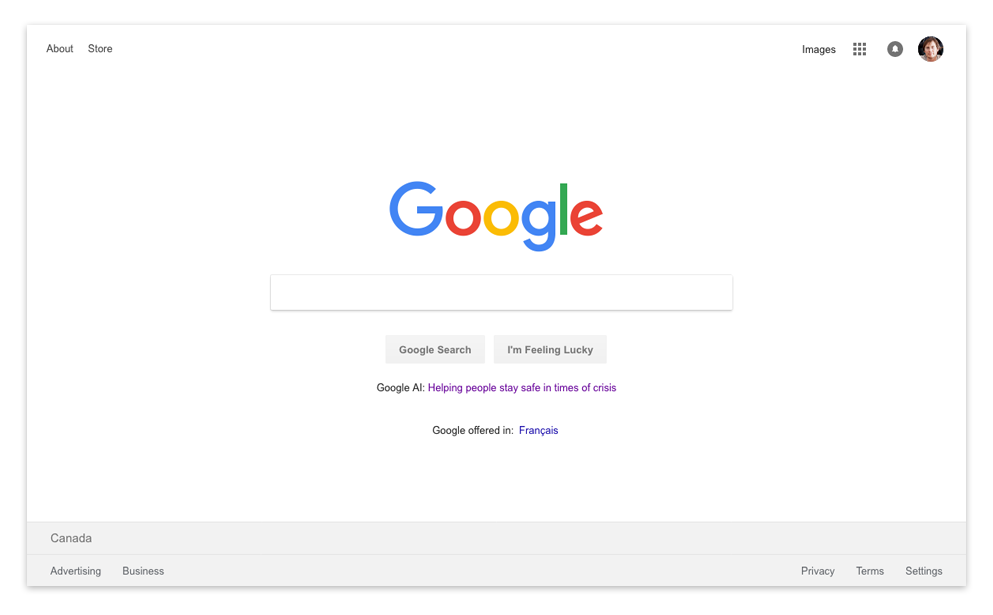 Screenshot of Google.com